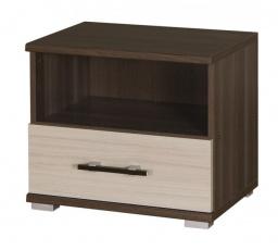 Noční stolek Inez R16 jasan tmavý/jasan světlý