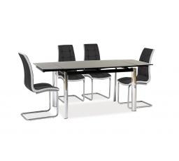 GLADIATOR jídelní SET černá/bílá  (stůl GD017C + 2 židle H103B+ 2xžidle H103C) (S)***DOPRODEJ JAKO SET - POSLEDNÍ KUSY - AKČNÍ CENA