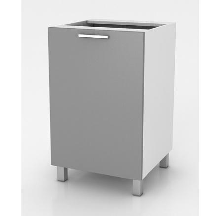 Kuchyňská skříňka Natanya D601D šedý lesk