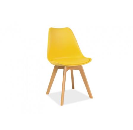 Jídelní židle KRIS žlutá, buk