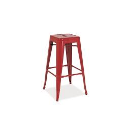 Barová židle LONG - červená
