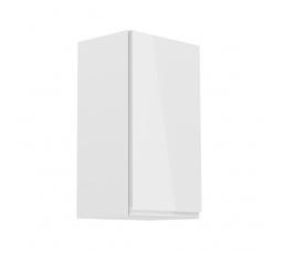 Kuchyňská horní skřínka - ASPEN G40 (P/L), bílý lesk