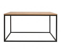 stolek AROZ LAW/100 dub lancelot/černý kovový rám