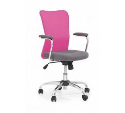 Dětská židle ANDY šedá+růžová