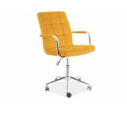 Kancelářské křeslo Q-022 VELVET - Curry Bluevel 68