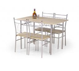 FAUST set stůl + 4 židle dub sonoma (1p=1kpl)