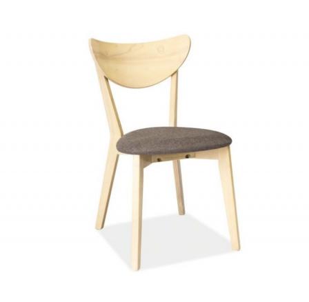Jídelní židle cd-37, šedá/dub bělený