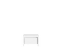 Noční stolek KASPIAN KOM1S bílá/bílý matná
