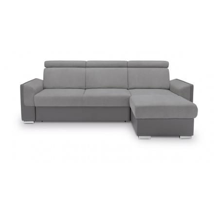 ELENA  2F.URCBK, Soro 90 grey/Madryt 990 grey, prošití 2680 (BRW COMFORT) (FLVIII-K1230)