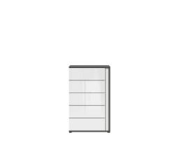 GRAPHIC (S343) KOM5SL/C šedý wolfram/bílý lesk (laminát)