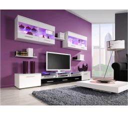 Obývací stěna CAMA I - bílá-černá