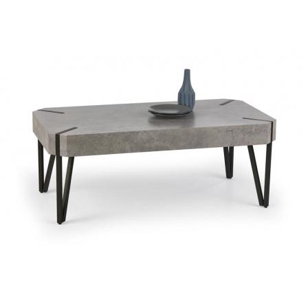 Konferenční stůl EMILY /beton+černá