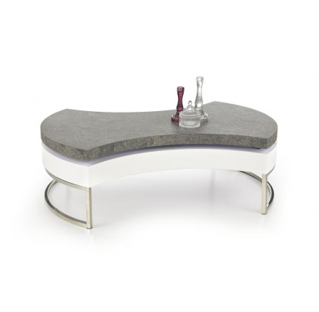 Konferenční stůl AUREA 2 /beton+bílá