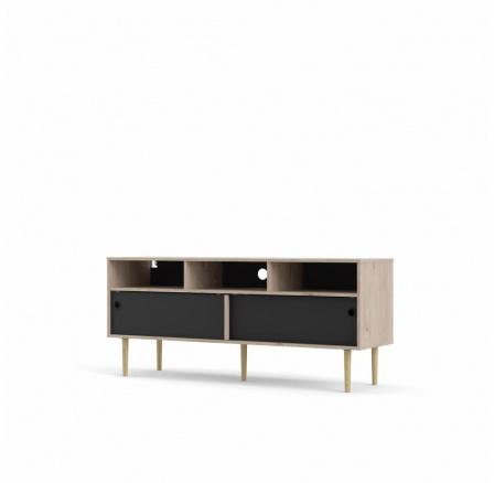 TV stolek Ruby hickory/černá
