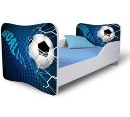 Dětská postel FOTBAL modrá 160x80 cm