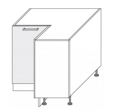PLATINUM - dolní skříňka rohová 90cm D12/90