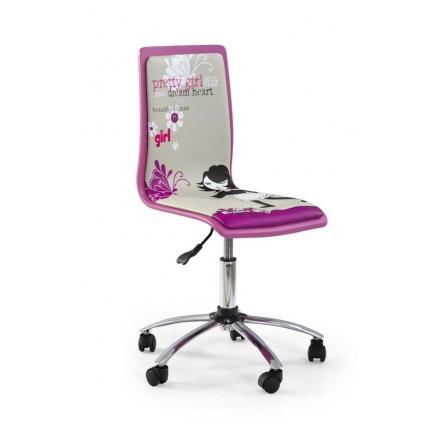 Dětská židle FUN-1/ růžová s nápisem pretty girl