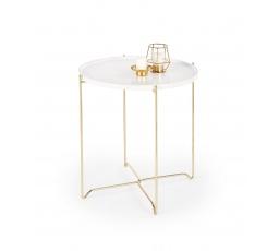 Konferenční stůl CASA Bílá/Zlatá