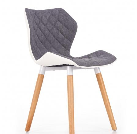 Jídelní židle K277 šedá/bílá