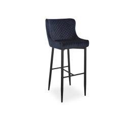 Barová židle COLIN B VELVET H-1, černá