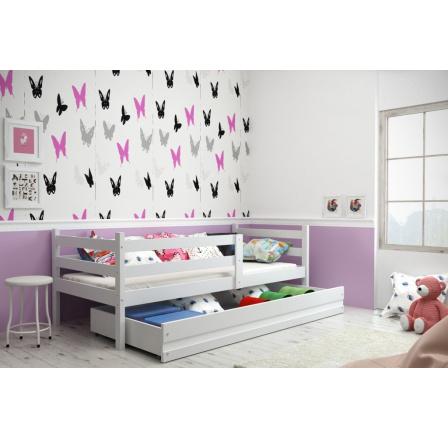 Dětská postel Norbert 90x200 bílá