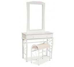 1102 toaletka s taburetem bílá (S) (K150-Z)