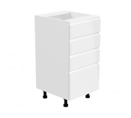 Kuchyňská dolní skřínka - ASPEN D40S4, bílý lesk