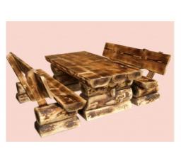 Dřevěná zahradní sestava BALI opalovaná