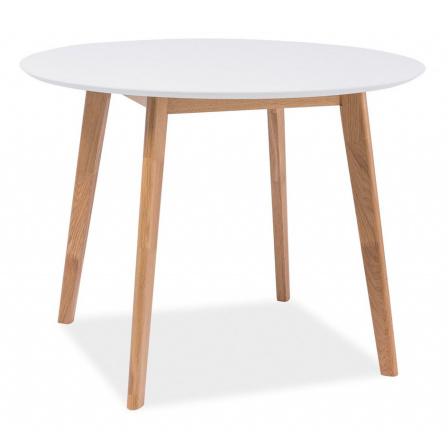 Jídelní stůl MOSSO, Dub / Bílá