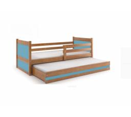 Postel z masivu pro 2 děti RICO 2 - Olše/Modrá