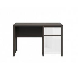 Psací stůl KASPIAN BIU1D1S/120 Wenge Bílá lesk