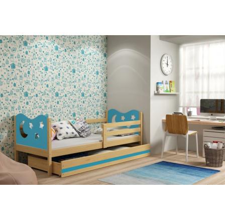 Postel Miky 80x190 borovice/modrá