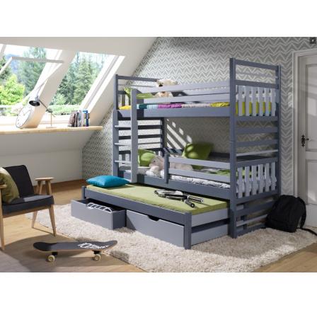 HIPOLIT - patrová postel pro 3 děti