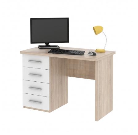ROLEX -počítačový stůl (ROLLO) - dub sonoma/bílá  (MD)(K150)
