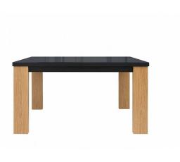 Jídelní stůl AROSA STO/140 dub baltic / černý lesk
