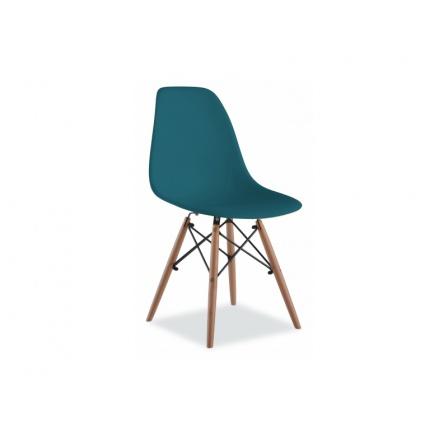 Jídelní židle ENZO, modrá/buk