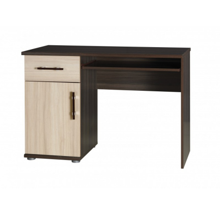 Psací stůl Inez R14 jasan tmavý/jasan světlý