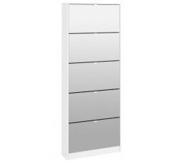 Botník Flap 052 5KL bílá/zrcadlo