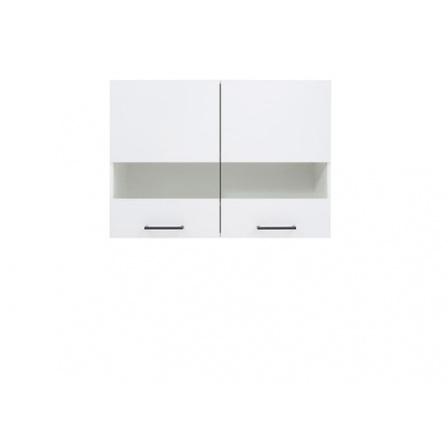 Kuchyňská skříňka Junona Lina G2W/80/57, bílá/bílý lesk