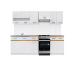 Kuchyň Junona Modul 230, bílá/bílý lesk