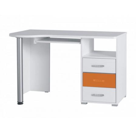 Psací stůl Nemo R11 bílá/oranžový lesk