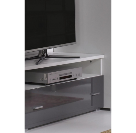 TV stolek Wenecja R6 bílá/grafit lesk