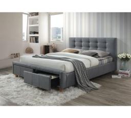 ASCOT postel 160x200 - šedá  - s roštem a ÚP (ASCOT160SZ) (S) (K150-Z)