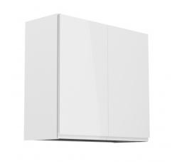 Kuchyňská horní skřínka - ASPEN G80C, bílý lesk