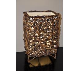 Lampa bambusová malá rovná včetně LED žárovky