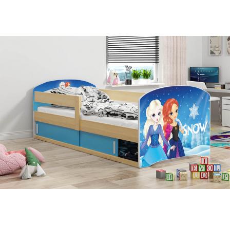 Dětská postel Luki 1 - Přírodní 160x80 cm