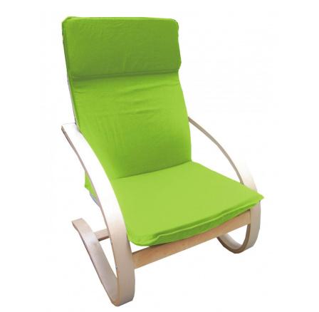 Relaxační křeslo žlutozelené