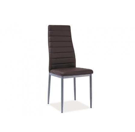 Jídelní židle H-261 BIS, hnědá/alu