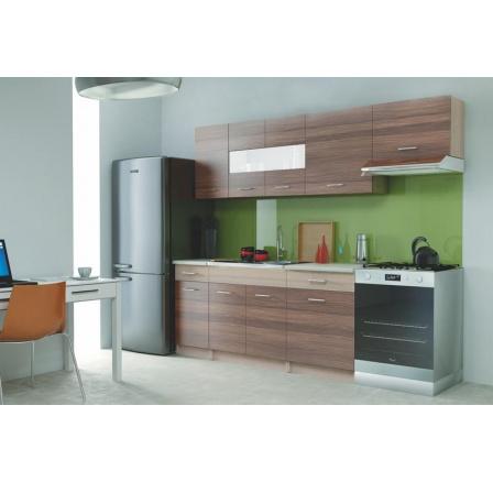 Kuchyňská linka ALINA 240, dub mléčný/jilm piemonte