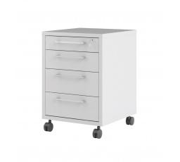 Kontejner na kolečkách Office 419 bílý